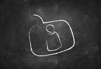 chalkboard person icon - Looking for Staff